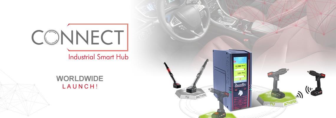 Vă prezentăm cu mult entuziasm noul nostru hub inteligent industrial denumit CONNECT: o soluție Desoutter 4.0!