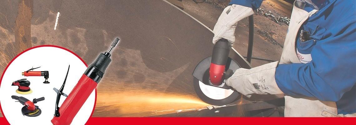 Printre gama noastră completă de polizoare şi maşini de şlefuit pneumatice, descoperiţi polizorul nostru pneumatic pentru discuri cu centru concav, solicitaţi o estimare de preţ sau o demonstraţie!